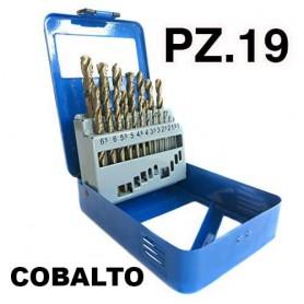 PUNTE HSS COBALTO 8% METAL BOX 19 PEZZI 1-10