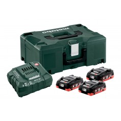 SET METABO 3 BATTERIE 4.0AH LIHD CON ASC 55