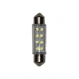 LAMPADA LED BIANCA 12V SILURO ATTACCO 11X38
