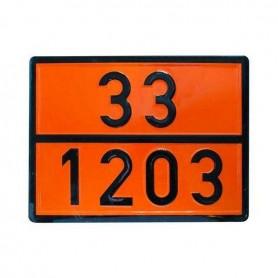 PANNELLO IMBOSSATO SEGNALAZIONE ADR 33-1203 INOX