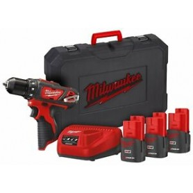 TRAPANO AVVITATORE MILWAUKEE 12V CON 3 BATTERIE