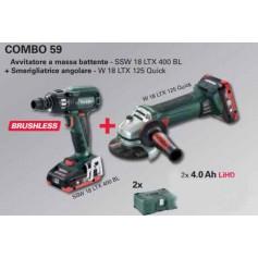 COMBO METABO 59 SSW 18 LTX 400 BL+ W 18 LTX 125 Q