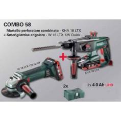 COMBO METABO 58 KHA 18 LTX + W 18 LTX 125 Q