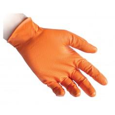 Guanti Nitrile Full Grip Pz.50 Arancio