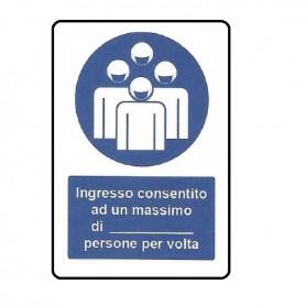 SEGNALE DI NORME DI COMPORTAMENTO 33X50 CM ALLUMIN