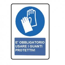 SEGNALE DI OBBLIGO GUANTI 33X50 CM ALLUMINIO